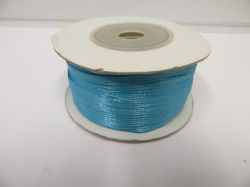 3mm Roll Aquamarine x 90 metres Polyester ribbon double sided Clearance LAST ONE